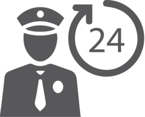 24-Hour Security Icon